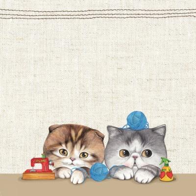 고양이삼촌 메모패드 - 마롱&만두