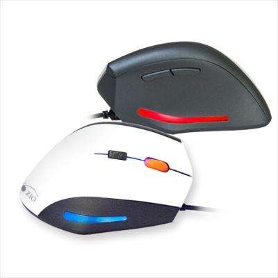 ZIO 인체공학 버티컬 마우스 ERGO900 (4단계 센서 / LED조명 / 러버코팅)