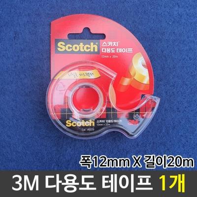 3M 다용도테이프 투명테이프 스카치테이프 본체 1개