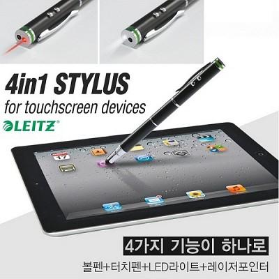 [Leitz] 볼펜+레이저포인터+LED후레쉬+터치펜-독일 라이츠 다목적멀티펜 4in1 Stylus HF-173-3