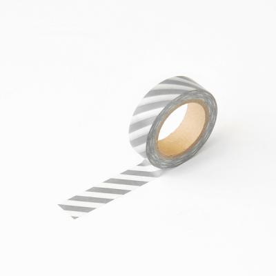 왈가닥스 오블리크 마스킹테이프 - 173 Gray Oblique