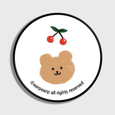 Dot cherry bear-white(스마트톡)