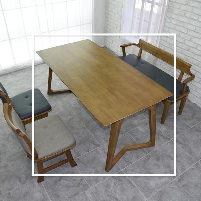 도밍 고무나무 원목 4인용 식탁 테이블