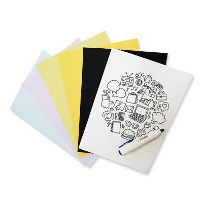 라미에이스 화이트보드시트지 색상4종 600x400mm