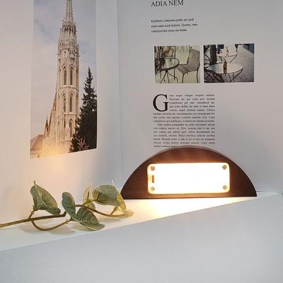 자석 스틸 조명 붙이는조명 LED스탠드 반원형 월넛