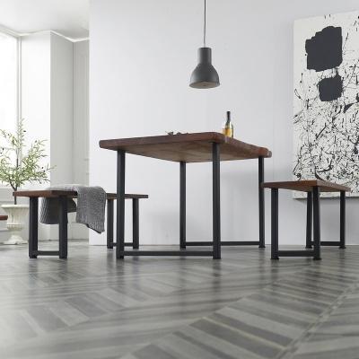 폴란 우드슬랩 식탁세트 1800 + 벤치의자 포함