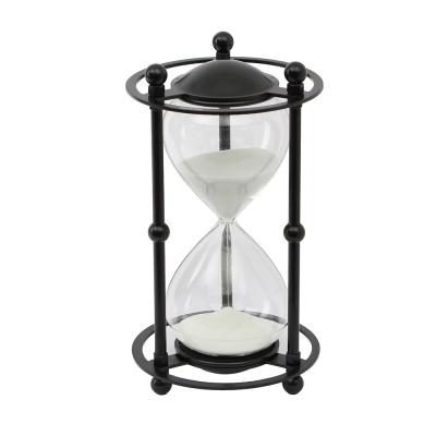 블랙메탈 인테리어 모래시계(30분) (화이트)