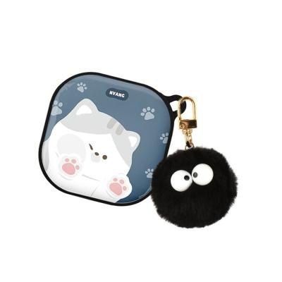 고양이 하드 갤럭시 버즈라이브 케이스+먼지몽 키링
