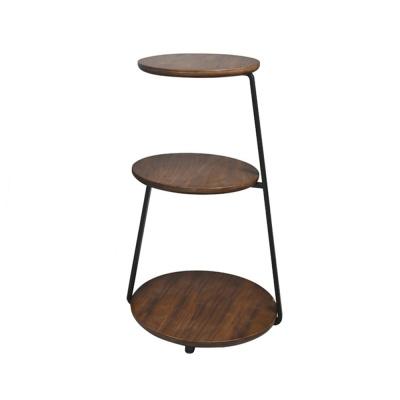 집드리 원목 원형 커피테이블 다용도