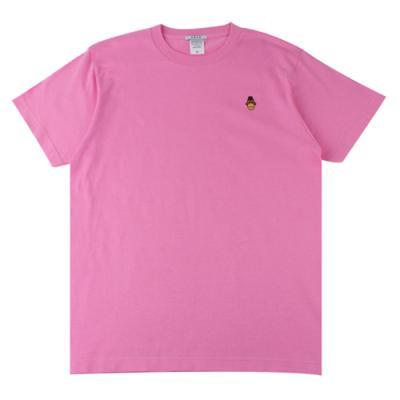 [알슨] #AR-SS002 캐릭터자수 반팔 티셔츠 (PINK)