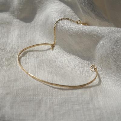 14k gold crispy bracelet no.1