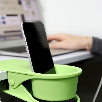 휴대폰거치 다용도 정리수납 집게형 테이블 컵홀더