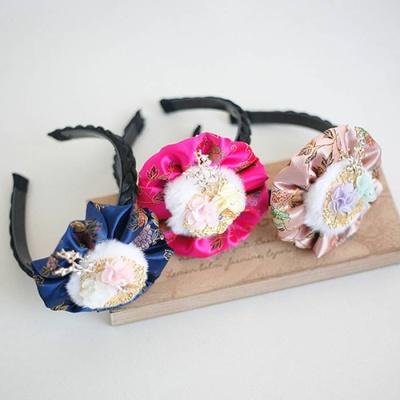 크리스킨드 전통 밍크배씨 땋은 머리띠 (3color)