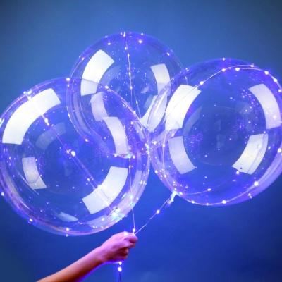 LED 투명 버블벌룬 세트(블루)