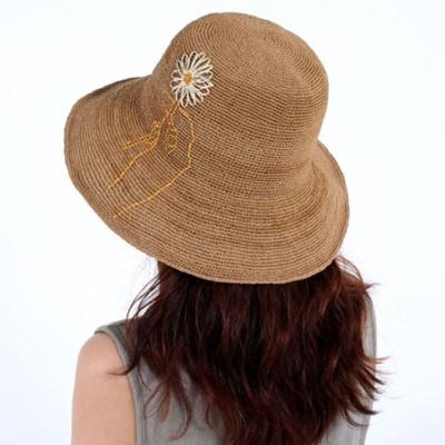 여자 버킷햇 햇빛차단 창모자 라피아햇 모자 베이지