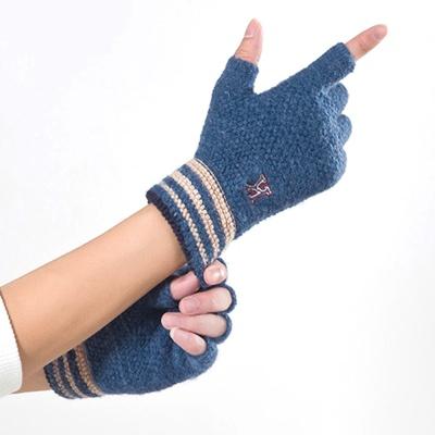 케이 니트 반장갑(블루) / 남성 방한 겨울장갑