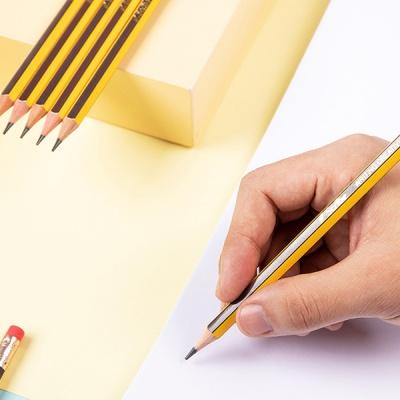 DELI 델리 스크라이브 스트라이프 지우개연필 12자루