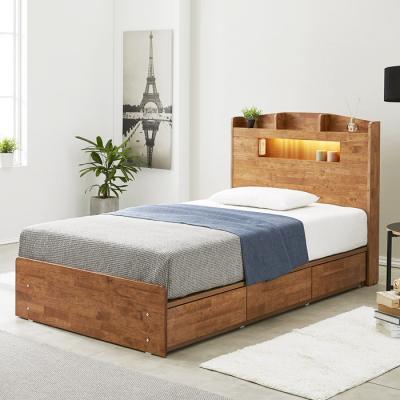 [노하우] 네이처 고무나무원목 LED 3서랍 침대 SS