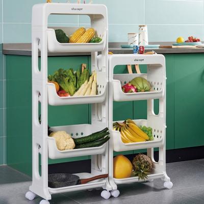 주방 용품 정리 바나코 이동식 다기능 선반