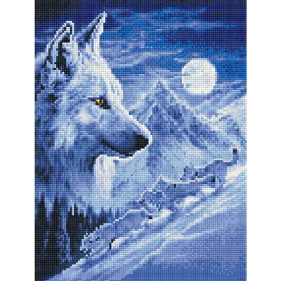 설원의 늑대 (캔버스형) 보석십자수 30x40