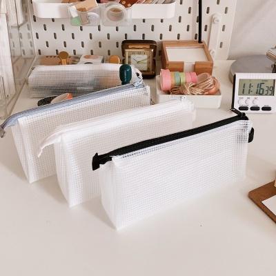 대용량 반투명 방수 화장품 소품정리 펜 파우치