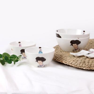 신윤복 미인도 전통기법 도자기 2인 홈 식기세트