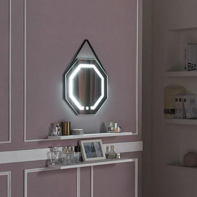 [Ldlab] 시크릿 LED 터치 팔각 스트랩 벽걸이 거울
