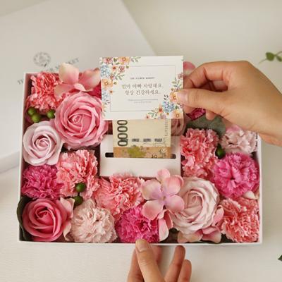 반전플라워용돈박스 - 러블리 비누꽃믹스 [2color]