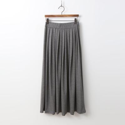 Easy Pleated Long Skirt