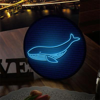 nh919-LED액자25R_네온효과행운의고래