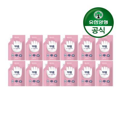 [유한양행]해피홈 핸드워시 리필 핑크포레향 12개