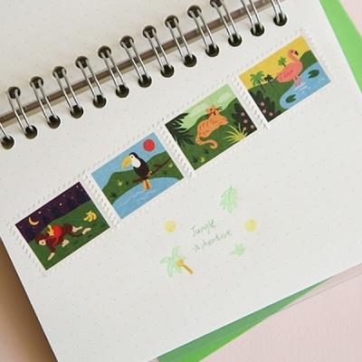 마스킹테이프 : stamp - 16 Jungle