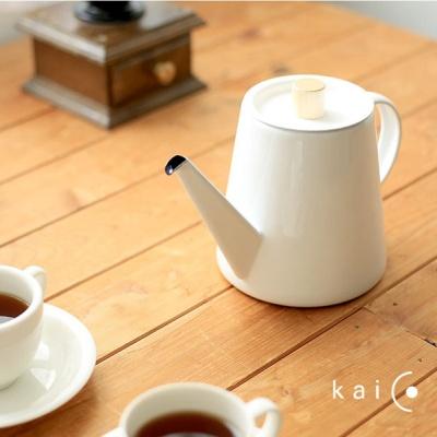 일본 kacio 카이코 법랑 드립 주전자