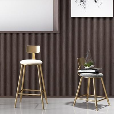 아파트32 홈 골드 철제 등받이 의자/ 3size