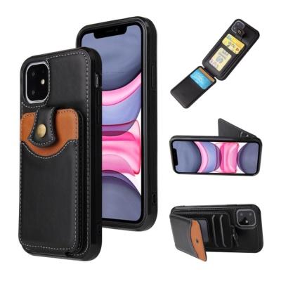 아이폰SE2 8 7+/카드 수납 지갑 가죽 실리콘 케이스