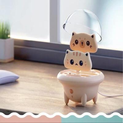 귀여운 LED 캡슐 우주선 고양이 보조배터리
