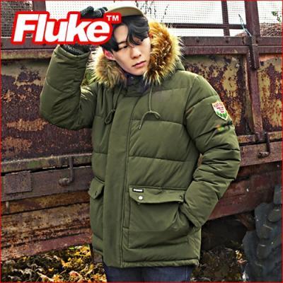 [플루크 패딩] 로체샤르 헤비 라쿤 야상 패딩 점퍼 카키 FPJ1504-KHAKI FLUKE 15FW