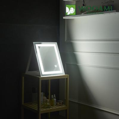 [우아미] 퍼블릭 LED 터치 탁상용 거울