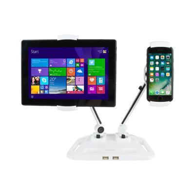 듀얼 태블릿&스마트폰 거치대 (USB 2포트)