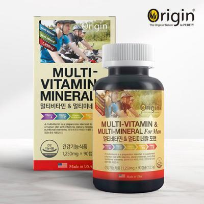오리진 멀티비타민 앤 미네랄 포맨 1,250mg X 90캡슐
