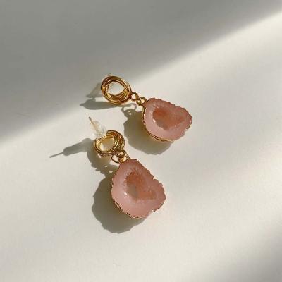 ROO4 핑크원석 귀걸이