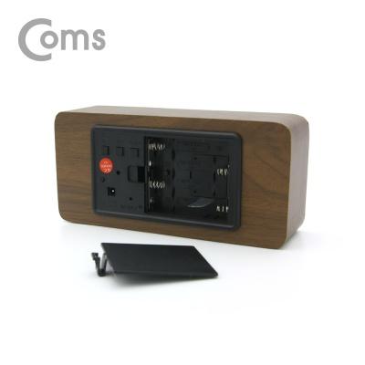 소형 디지털 우드 LED 시계 LCBB349