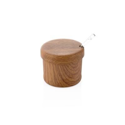 에블린 아카시아 우드 원형 양념통 스푼 세트