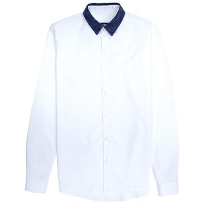 [게타] Getta Bule pattened shirt (White)