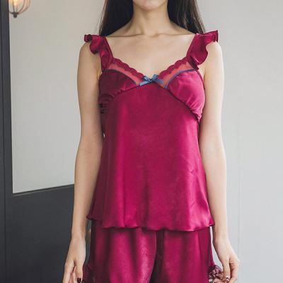 [쿠비카]망사 레이스 캐미솔 세트 여성잠옷 W235