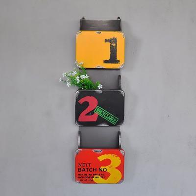 (와인앤쿡)빈티지 3단벽걸이수납함1개