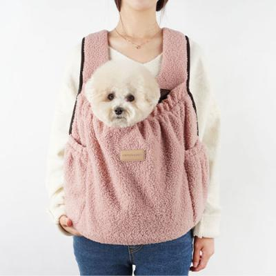 강아지앞가방 강아지백팩 허그프론트 덤블 핑크