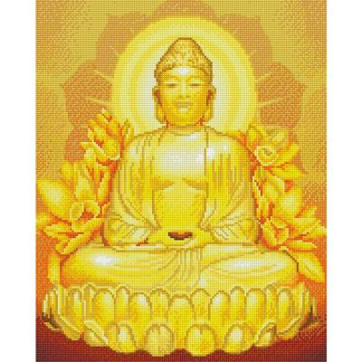 황금불상 (캔버스형) 보석십자수 40x50
