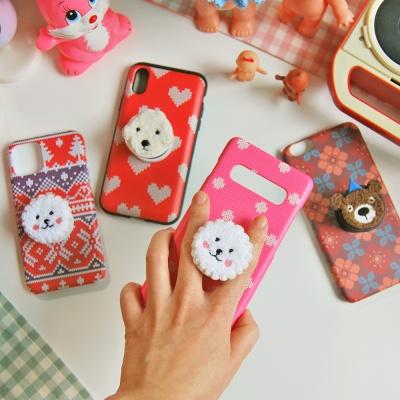[아이폰 카드범퍼] 뽀글이퍼피 스마트톡 케이스