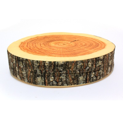 패브릭 통나무 원형 방석 / 인테리어용 실사쿠션